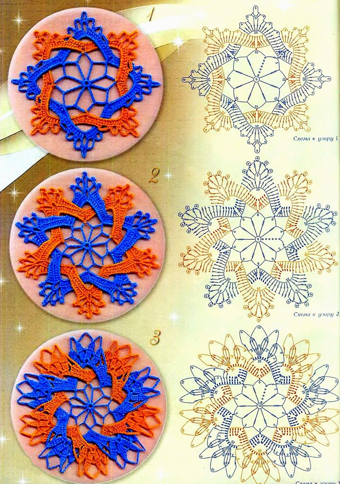 Pin By On Crochet Snowflakes Patterns Pinterest Coaster Diagrams A Few Pretty Knit Or Freeform Granny Squares Diagram