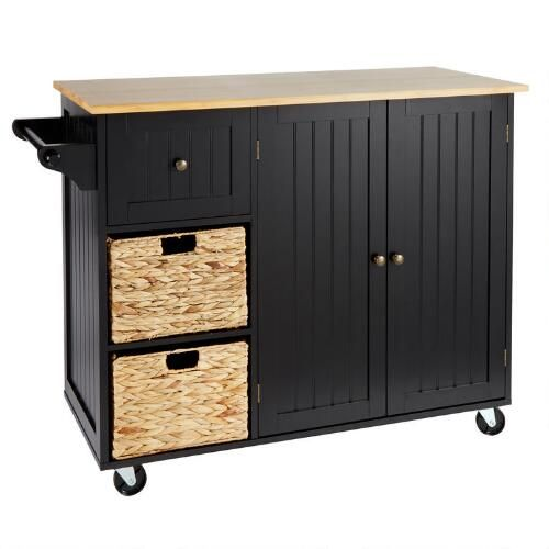 One Of My Favorite Discoveries At Christmastreeshops Com Rolling Kitchen Island With Baskets Rolling Kitchen Island Kitchen Roll Christmas Tree Shop