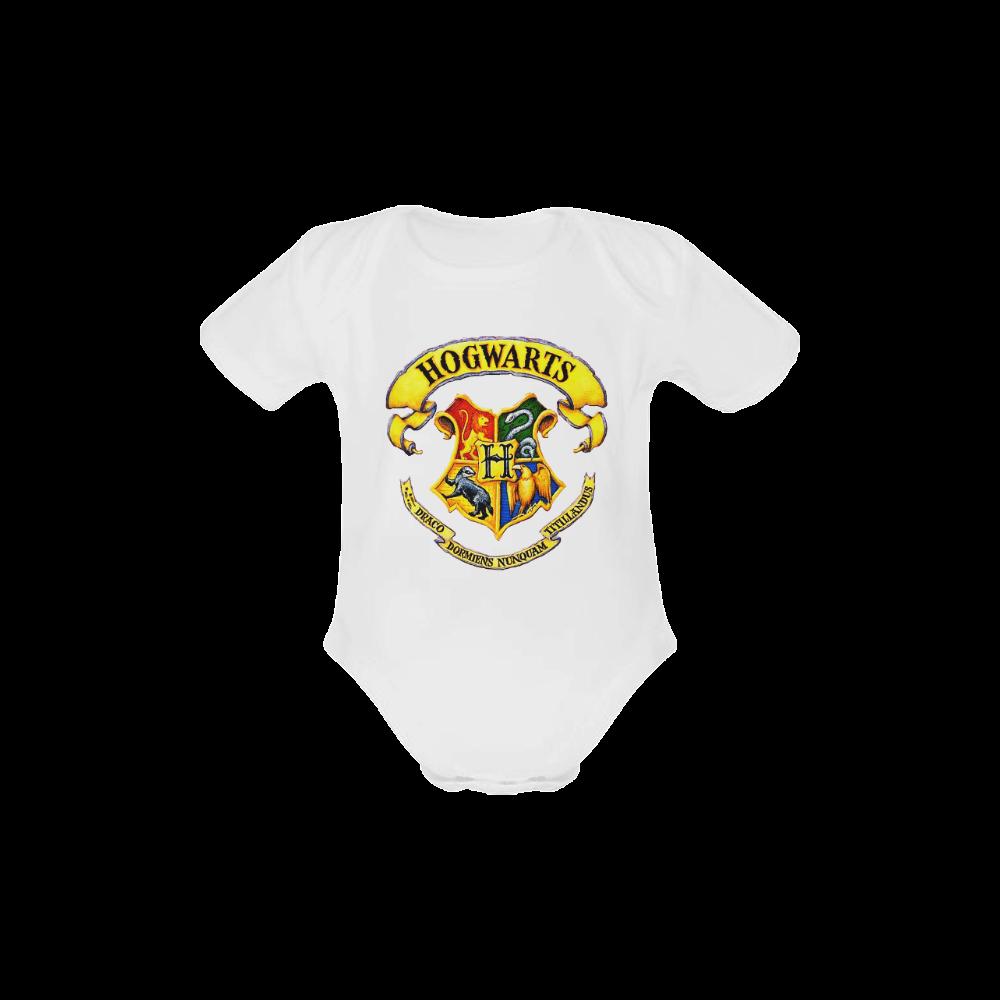 hogwarts logo Baby Powder Organic Short Sleeve One Piece