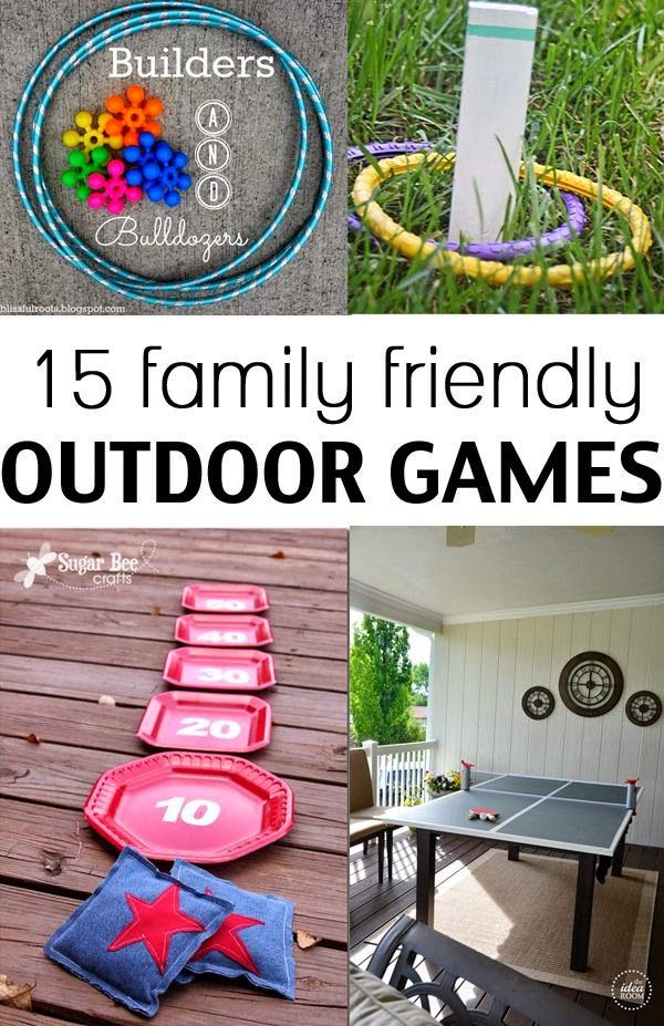 A fun collection of outdoor games for the entire family do it todays collection of 15 family friendly outdoor games are sure to be a hit at your house find this pin and more on do it yourself solutioingenieria Gallery