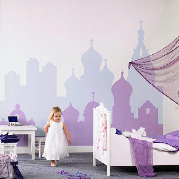 Kinderzimmer Kleines Mädchen Super Farbideen   Stadt Bemalung
