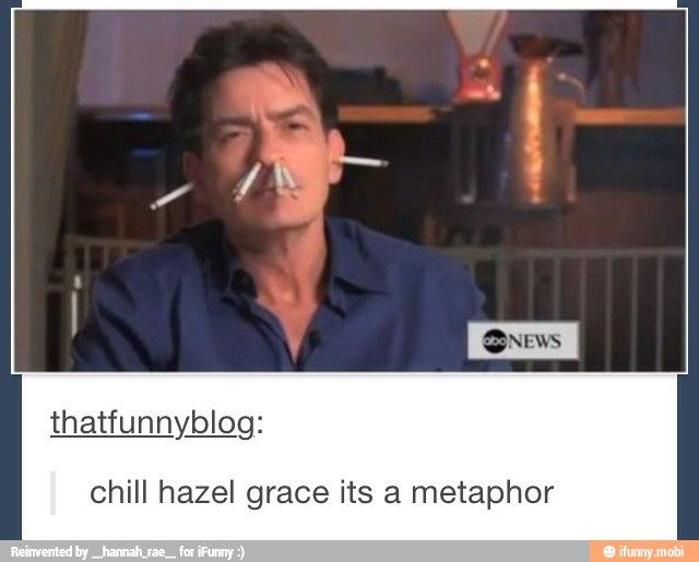 Hahaha the fault in our stars :p