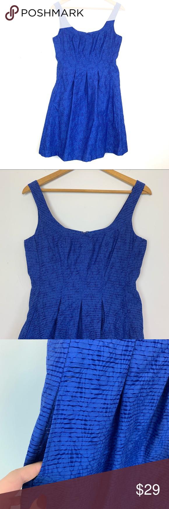 80b59ef11b4 Nine West Dress Sz 8 Blue Sleeveless Summer Spring Nine West Women s Dress  Size 8 Blue