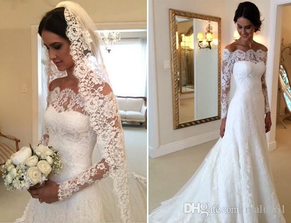 Cheap Wedding Dresses Lace: Discount 2019 Luxury Ball Gown With Detachable Wrap