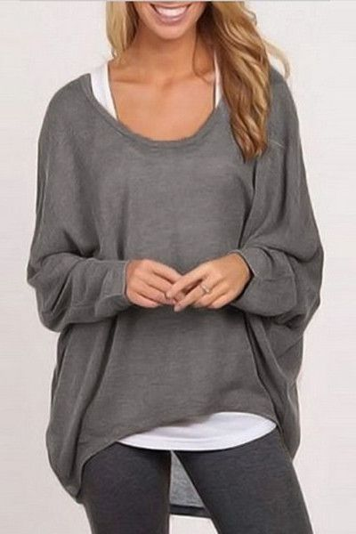 22ae31849a6 Blowing With The Wind Loose Full Sleeve T-Shirt | Fashion | Pullover  sweaters, Sweater shirt, Blouses for women
