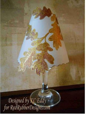 Vellum Shade For Wineglass Tealight Template Included Distracted By Something Shiny Wine Glass Candle Glass Candle Cover Lamp Shade Crafts