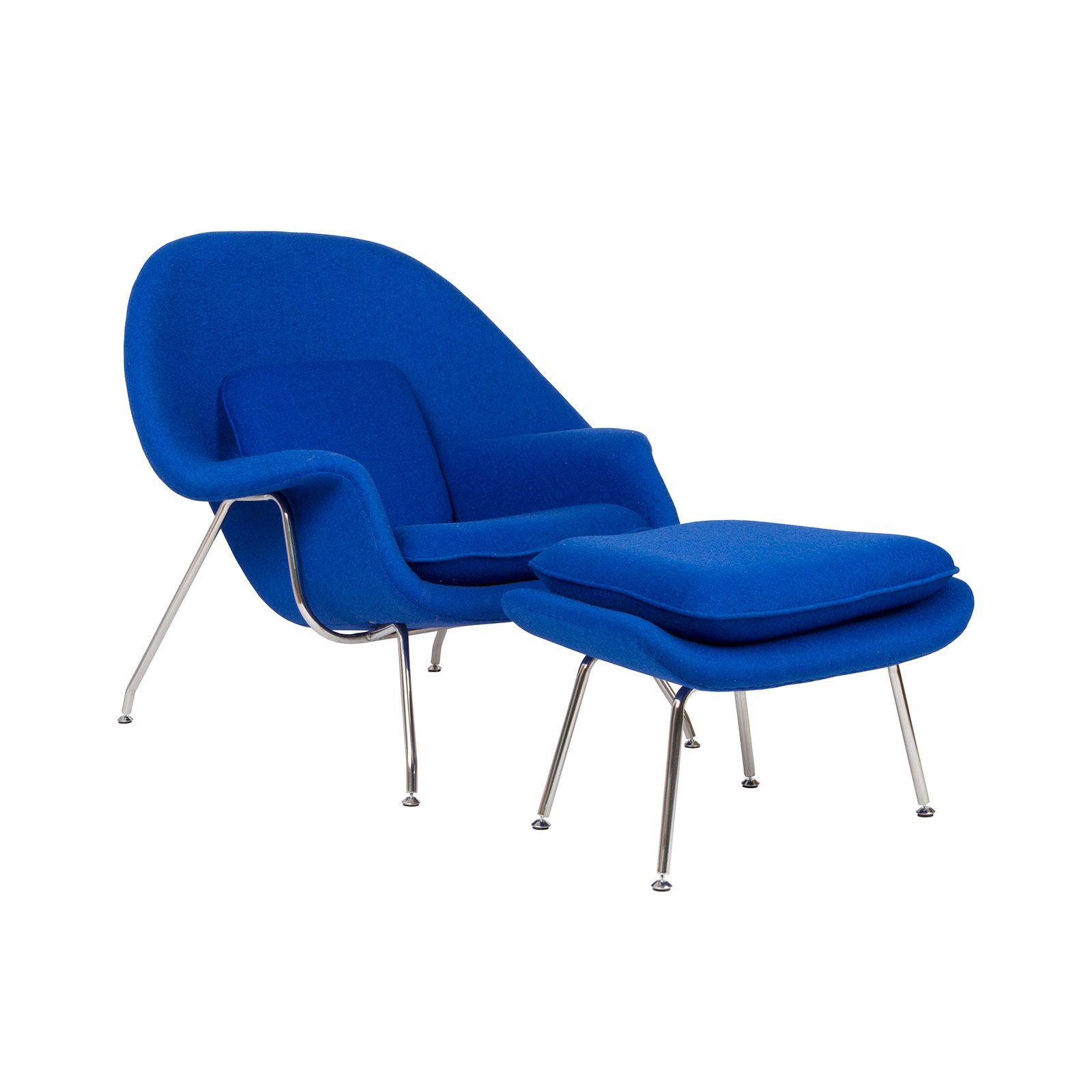 Nest Lounge & Ottoman Set in Blue | dotandbo.com | Mid ...