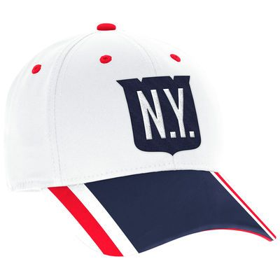Men s New York Rangers adidas White 2018 Winter Classic Structured Flex Hat 0b33c1008