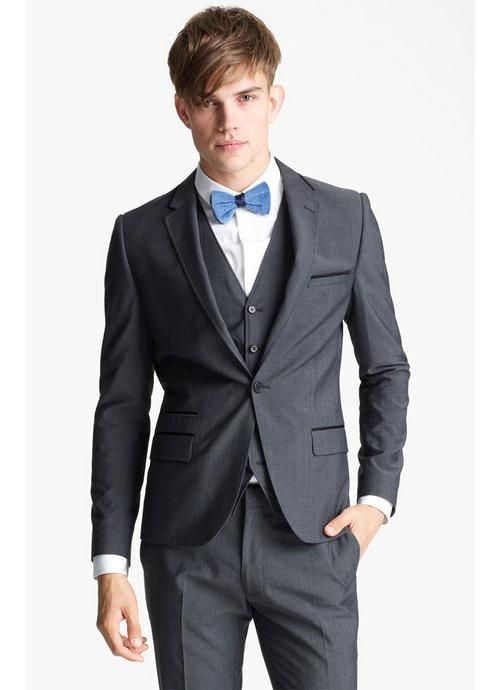 One Button Notch Lapel Handmade Prom Suits | Mens Suits | Pinterest ...