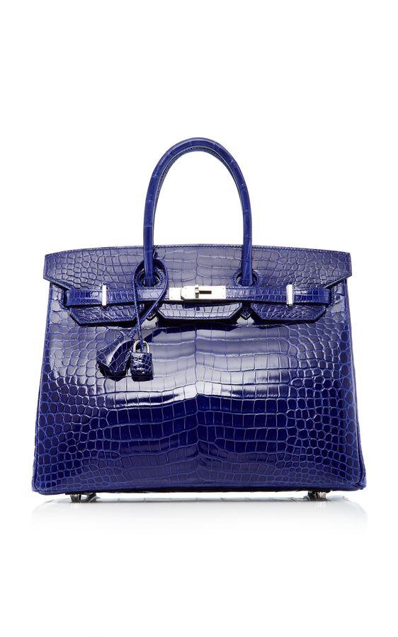 3c69b42a8b2 Heritage Auctions Special Collections Hermès 35Cm Blue Electric Shiny  Porosus Crocodile Birkin