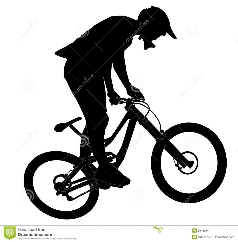 mountain bike jump silhouette - Google Search | Bicycle Logos ...