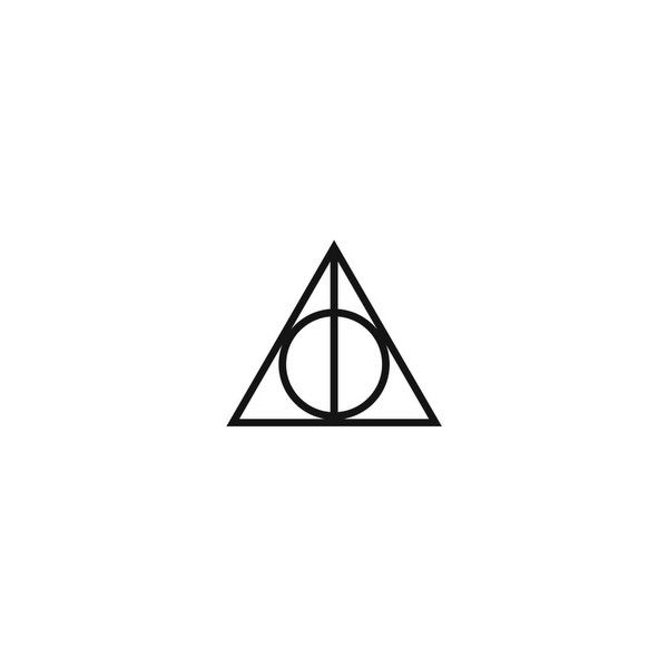 Hp Deathly Hallows Triangle Symbol Liked On Polyvore Featuring