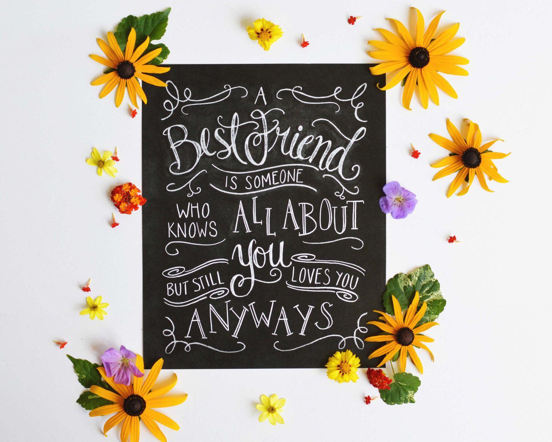 Best friend print friendship print a best friend is