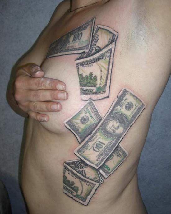 Pics photos 100 dollar bill tattoo joke 100 tattoo for 20 dollar tattoos