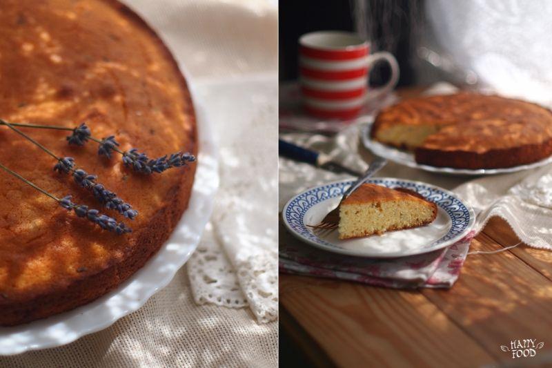 Лавандовый кекс с белым шоколадом