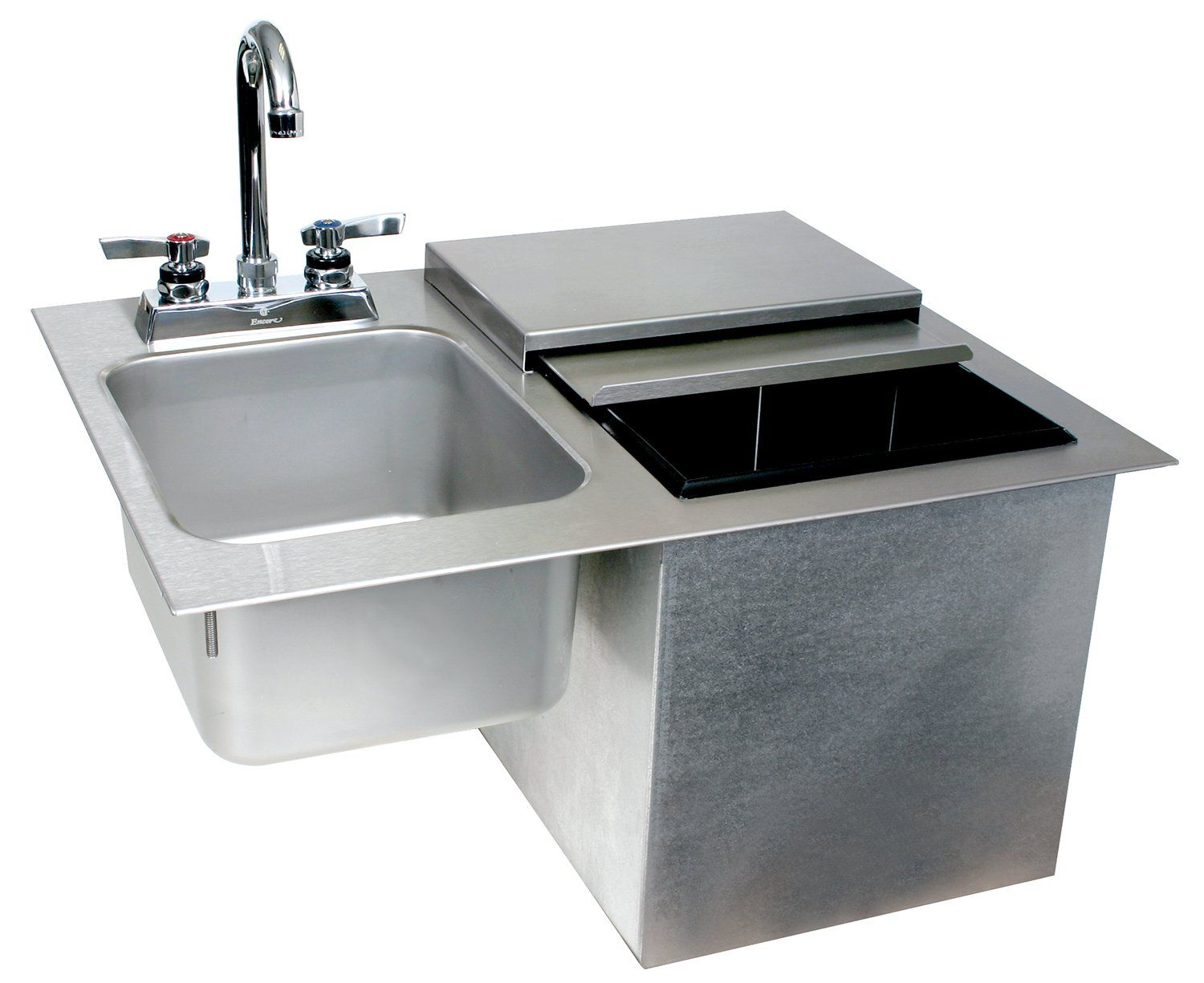 Glastender Commercial Drop-In Ice Bin with Sink & Faucet | Sinks ...