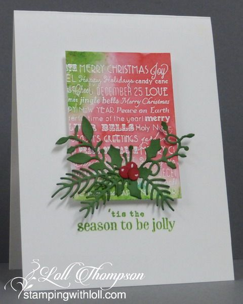 CAS Watercolour December Challenge #decemberchallenge