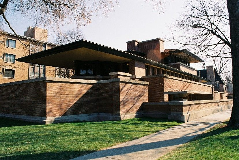 Frank Lloyd Wright Robie House Chicago) // The most notable example of the  so-called Prairie School