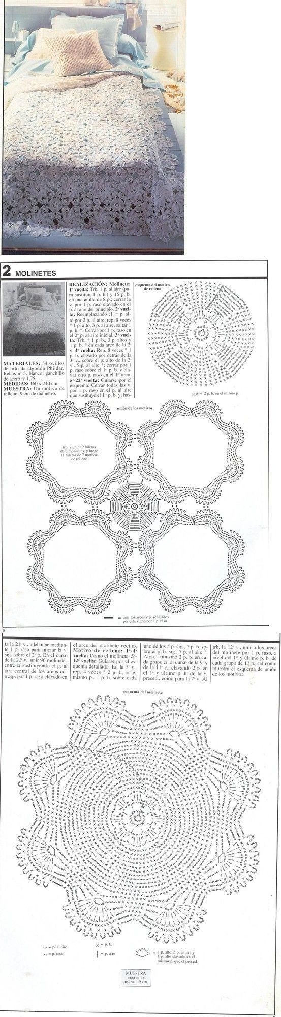 swirly crochet bedcover #crochet #motifs #@Af\'s 22/4/13 | 2 вязание ...