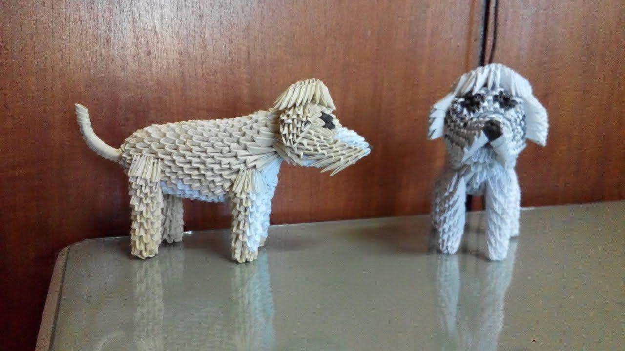 Photo of wie man 3D Origami Hund Golden Retriever macht