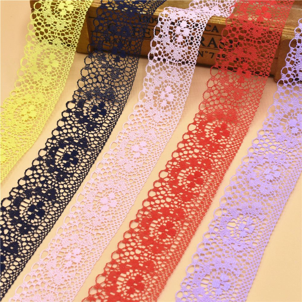 16 Designs Floral Embroidery Net White Lace Trimming Wedding Dress Sewing  DIY