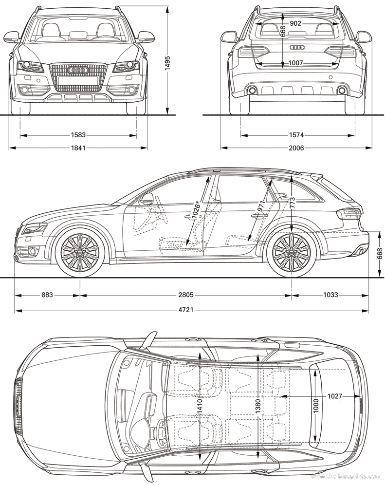 2010 audi a4 allroad quattro wagon blueprint blueprints for Blueprint sizes