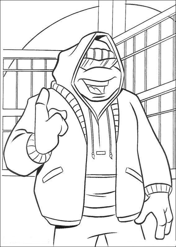 nickelodeon teenage mutant ninja turtles printable coloring pages ...