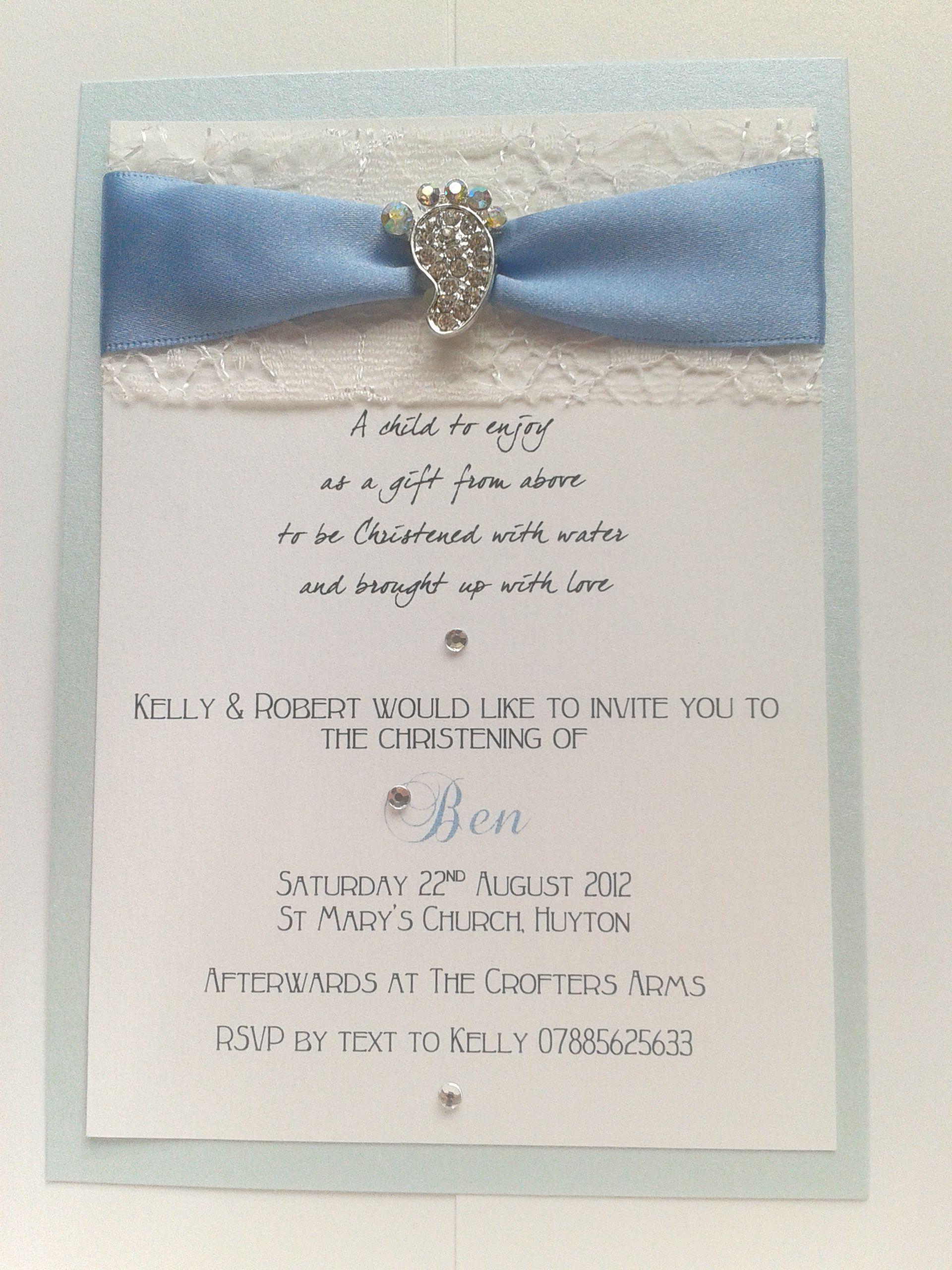 wedding shower invitations handmade%0A Handmade christening invitations