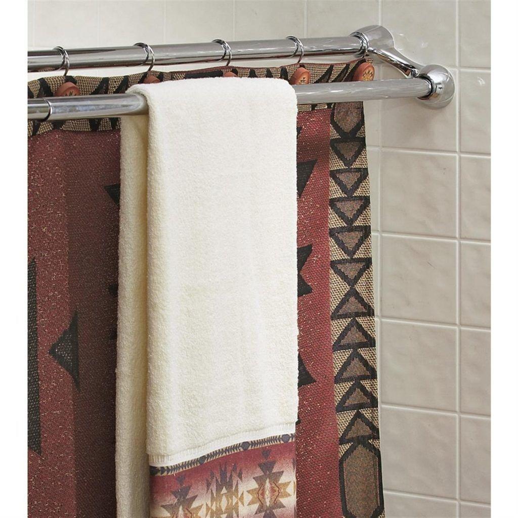 Duo Shower Curtain Rod | Shower Curtain | Pinterest | Shower ...