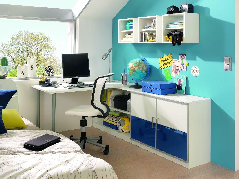 Frisches blau ist die farbe der entspannung und verleiht for Jugendzimmer blau