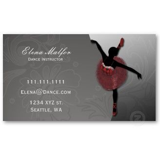 Elegant ballerina business card perfect for you if you are a dance elegant ballerina business card perfect for you if you are a dance instructor ballet trainer colourmoves