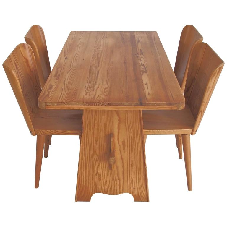 Goran Malmvall Dining Room Set Dining Four Chairs Karl Andersson