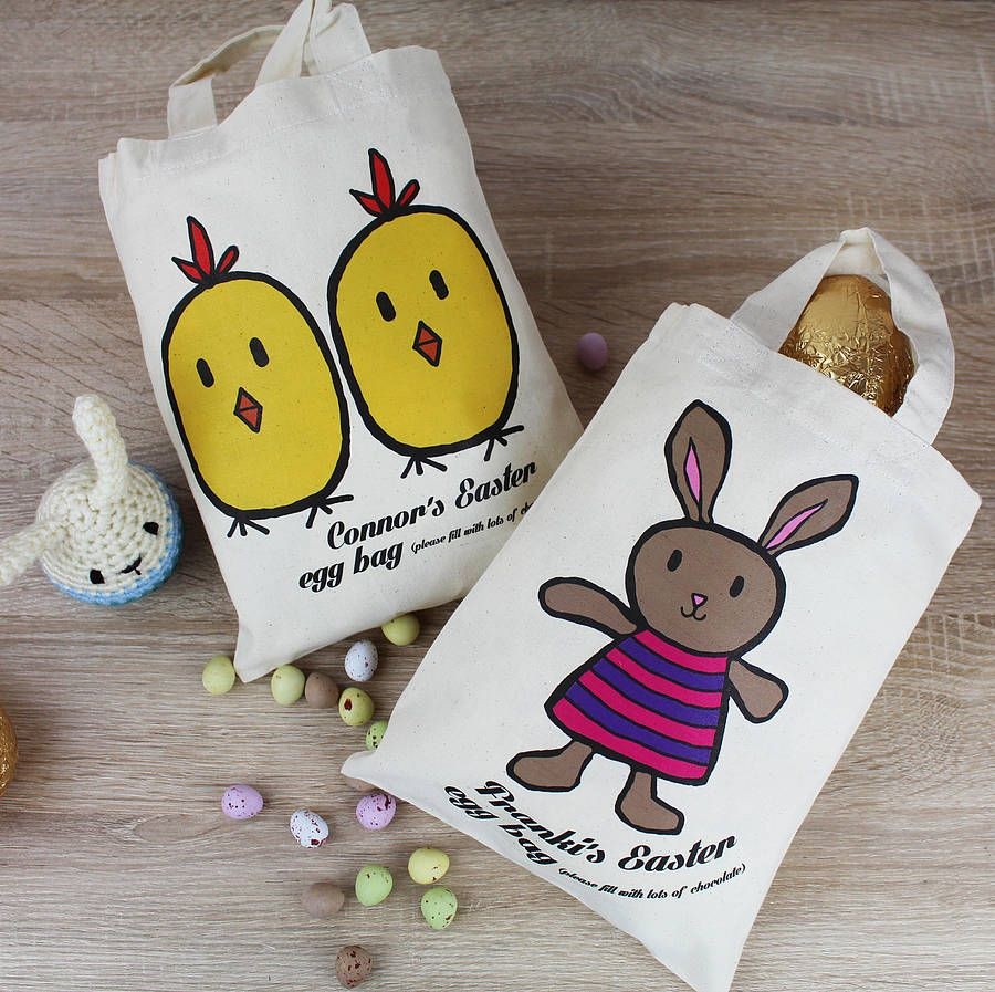 Personalised easter character tote bag by 3 blonde bears personalised easter character tote bag by 3 blonde bears notonthehighstreet negle Image collections