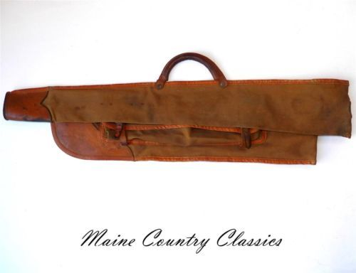 Vintage Canvas Leather Take Down Gun Case Winchester Remington Browning 1369 | eBay