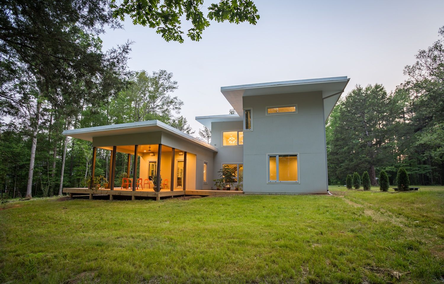 Net zero passive home in North Carolina can