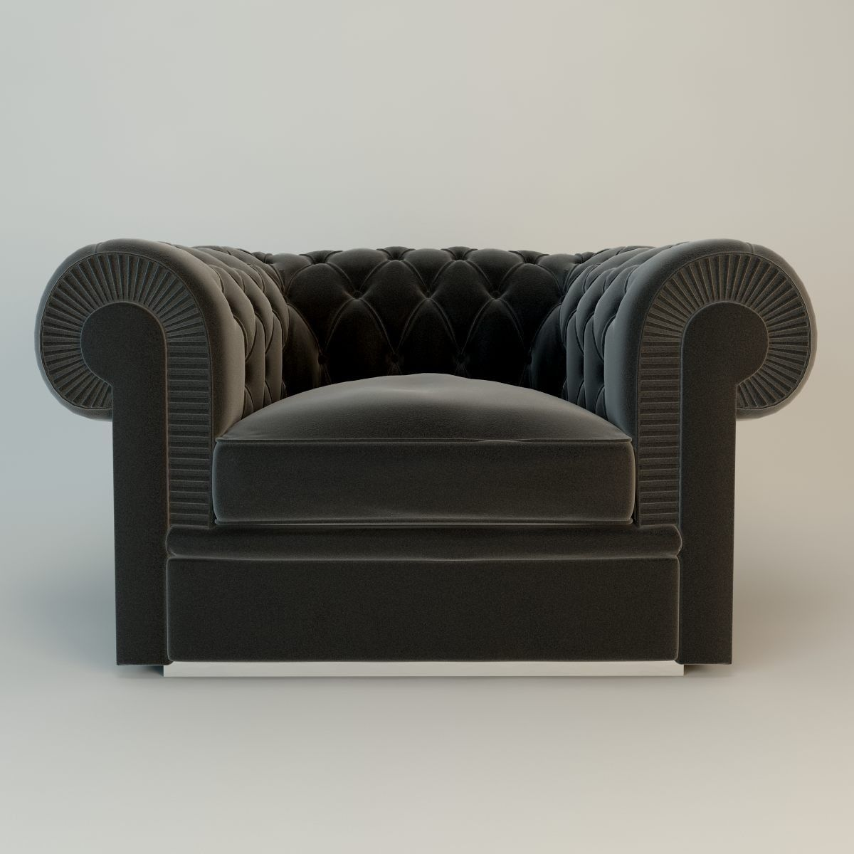 one seater sofa chair greige color albione by fendi casa seats pinterest