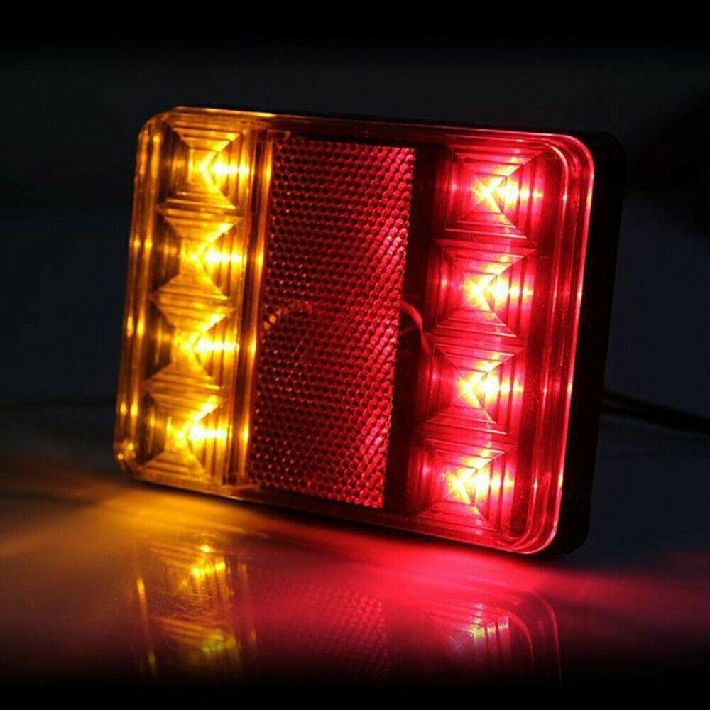 Sponsored Ebay 2pcs Waterproof 8led Trailer Light Rear Tail Lamp 12v Dc Car Truck Caravan Led Trailer Tail Lights Led Trailer Lights Caravan Lights