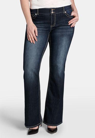 5a791052dad denim flex   plus size dark wash bootcut jeans (original price