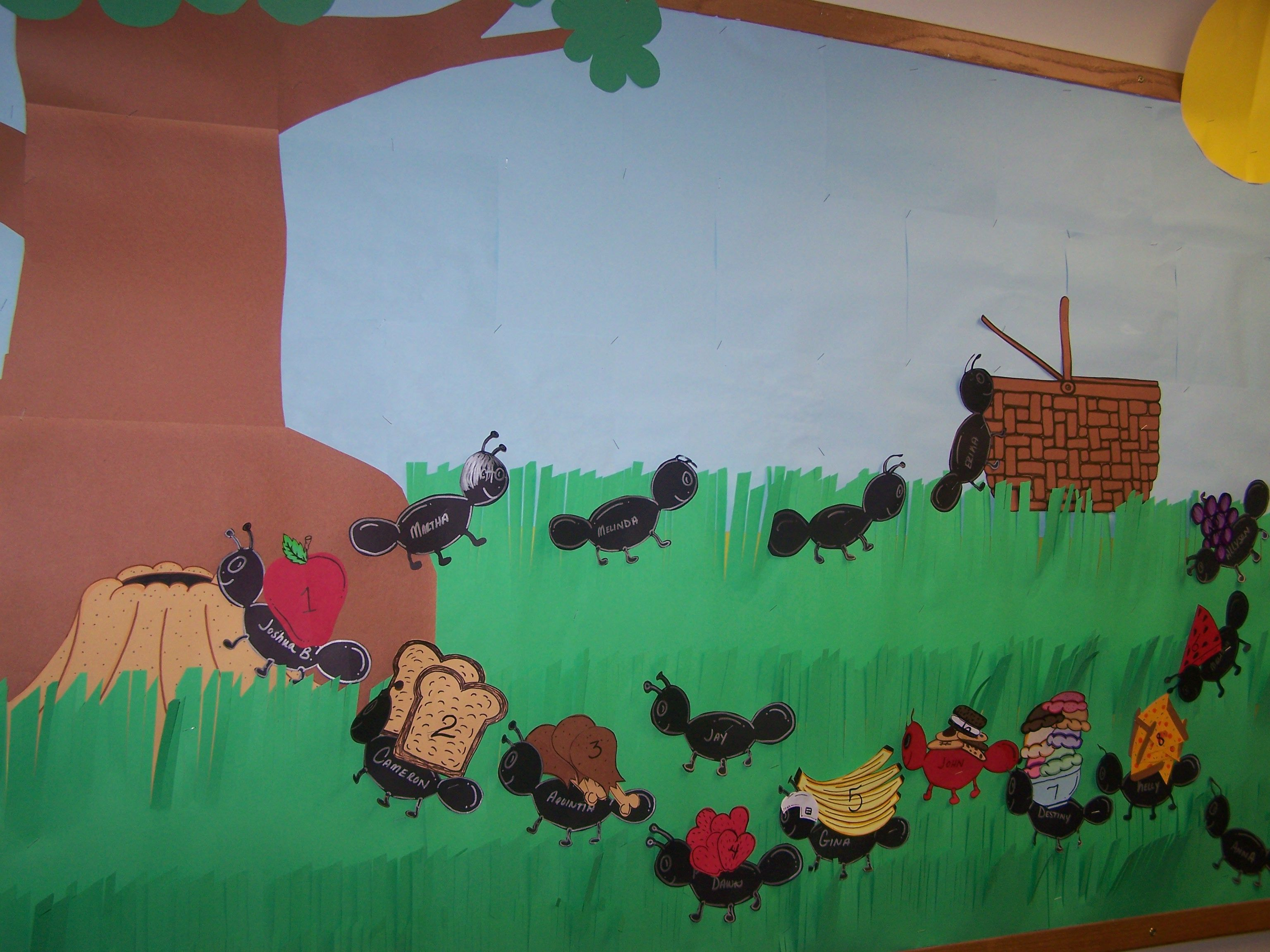 Summer Themed Classroom Decorations : Picnic summer bulletin board classroom group displays