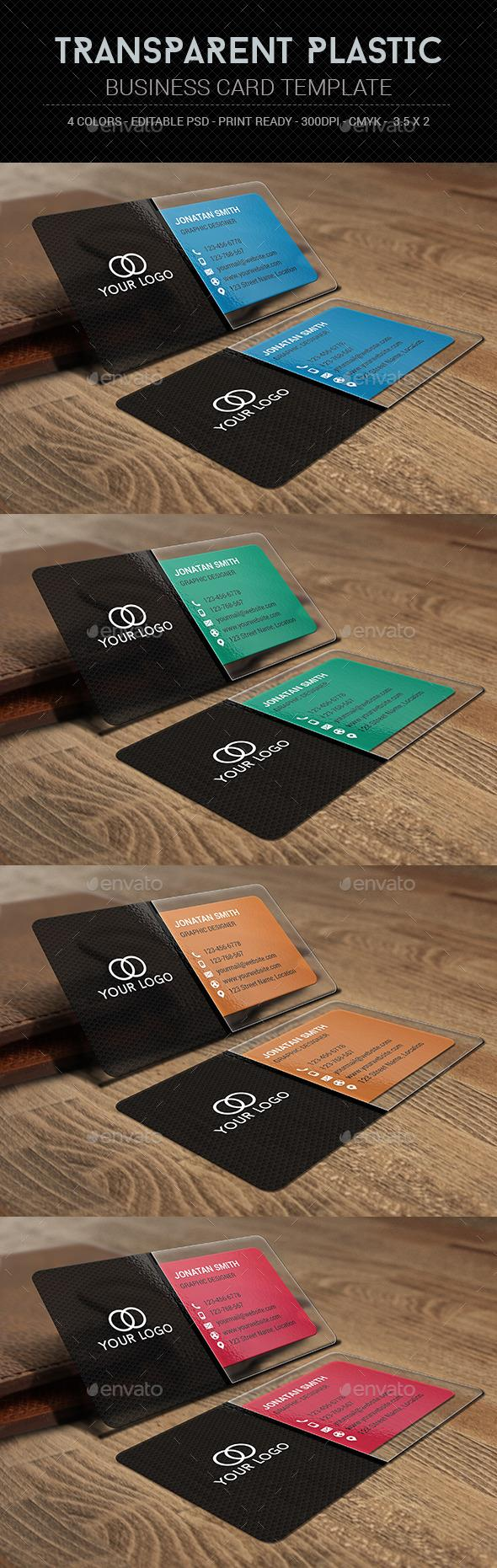 Transparent Plastic Business Card Template | Card templates and ...