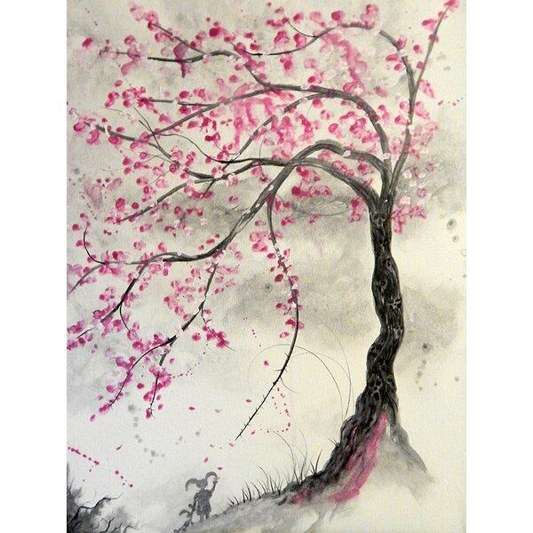 Cherry Blossom Tree By Ed Capeau Graphic Art On Wrapped Canvas Cherry Blossom Painting Acrylic Cherry Blossom Tree Tattoo Blossom Tree Tattoo
