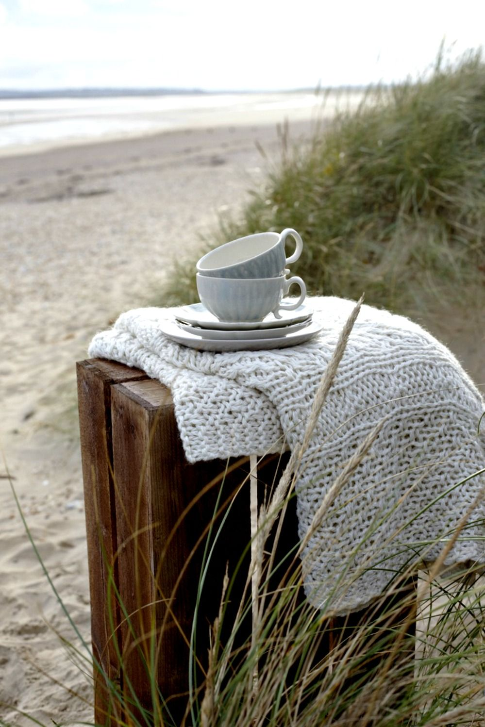 Take time to sit on the beach, wrapped in a warm blanket, with a hot cup of tea (or coffee) in a thermos, and just be.