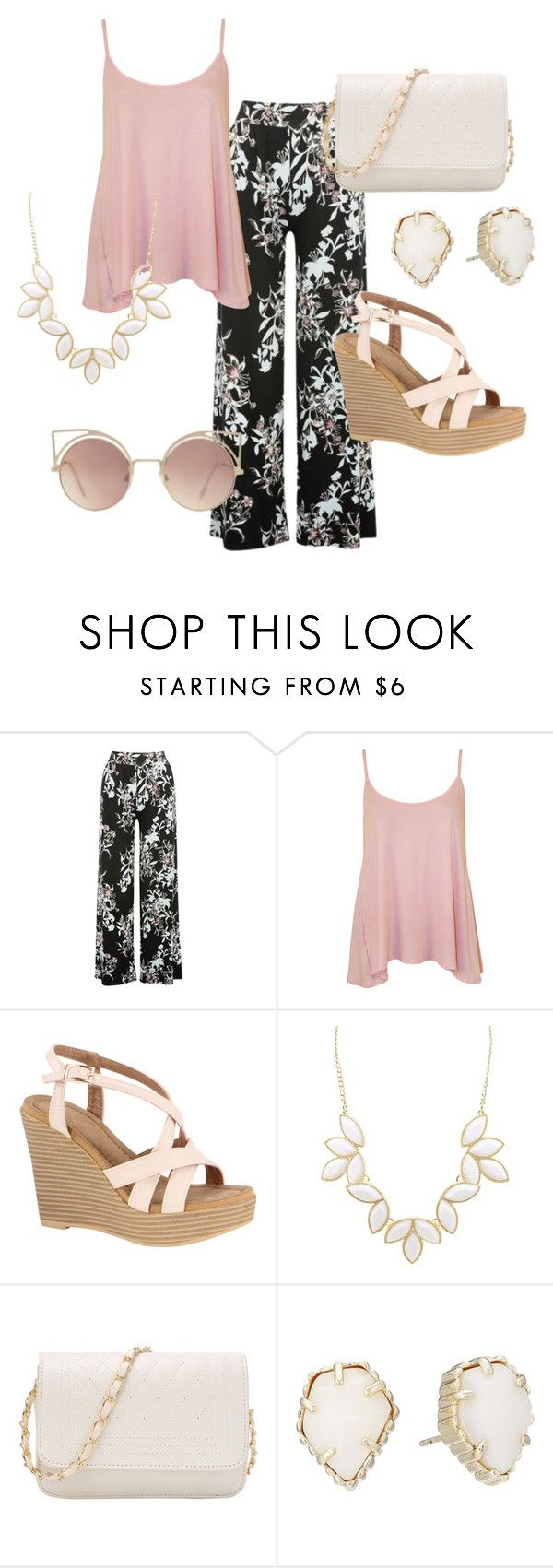 """""""Boho Floral"""" by ncis1218 ❤ liked on Polyvore featuring M&Co, WearAll, Charlotte Russe, Kendra Scott and MANGO"""