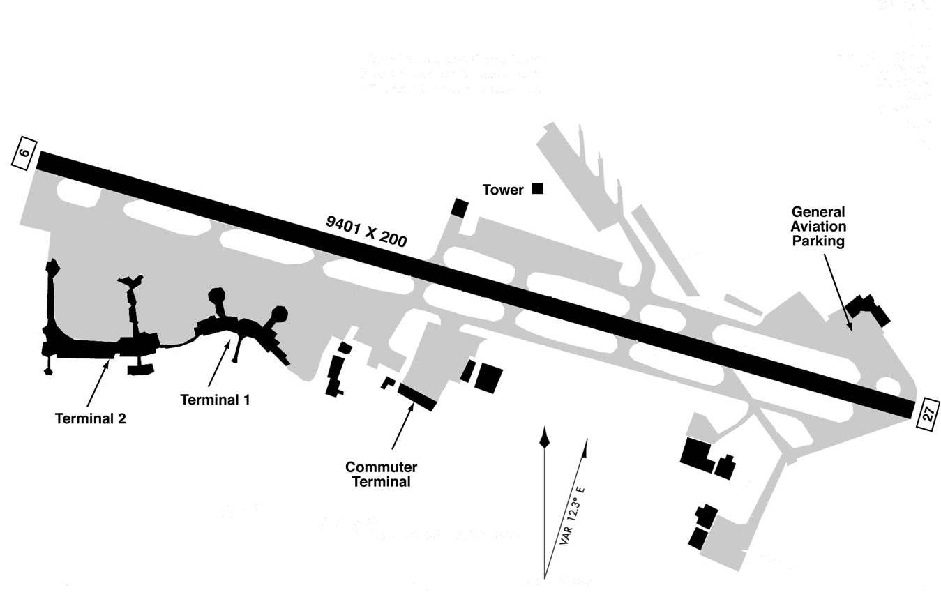 Sango International Airport Map