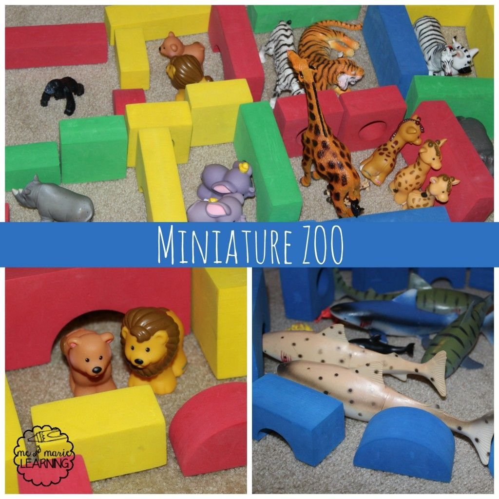 Build A Miniature Zoo Toddler Activity