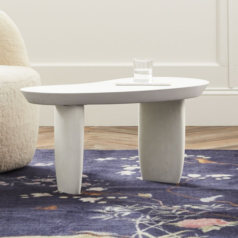 Shop Avorio Side Table Clean Ivory Cement Side Table Makes A