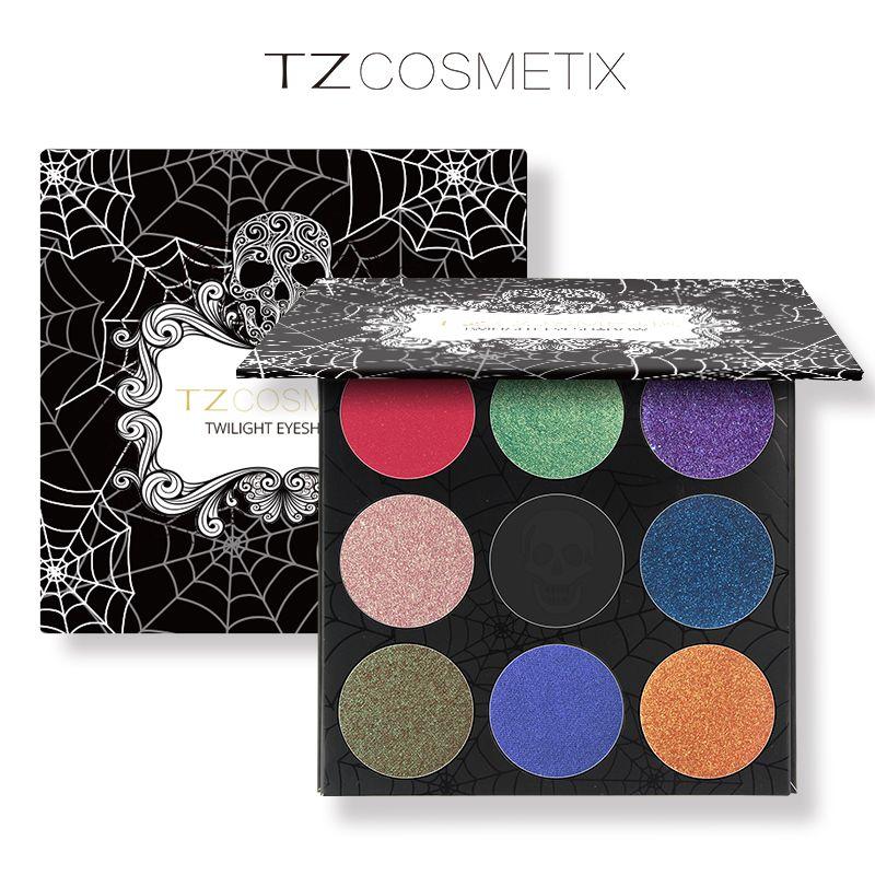 TZ Marca 9 Colori Eyeshadow Palette Matte Diamante di Scintillio Sventato Ombretto in Una Gamma di colori Arrossiscono Trucco Set per la Bellezza