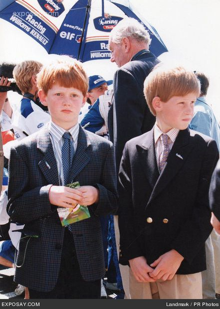 Prince Harry and his cousin George McCorquodale.