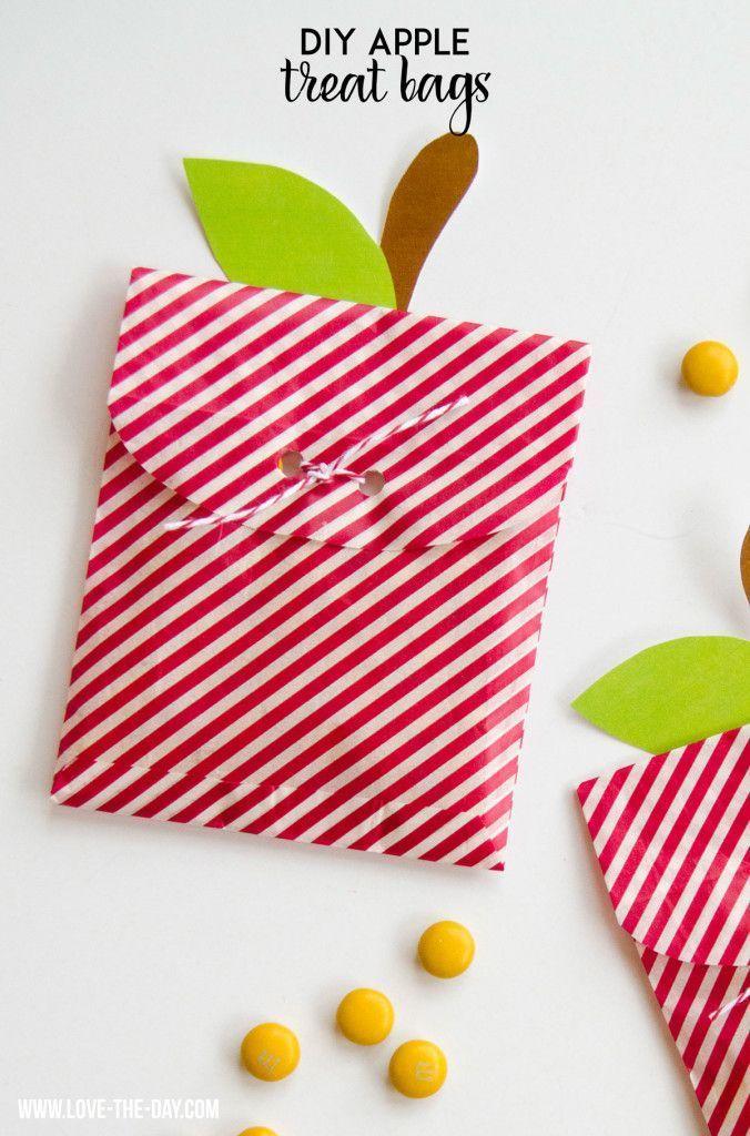 Info's : Apple Crafts Week:: DIY Apple Treat BAgs