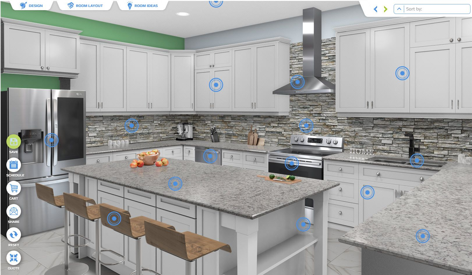 Kitchen Visualizer in 4  Kitchen visualizer, Kitchen